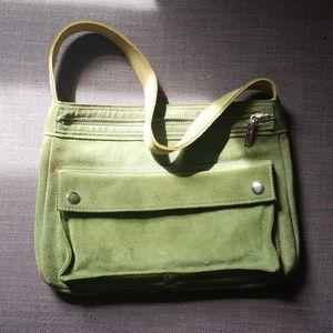 Banana Republic Lime Green Suede Bag EUC